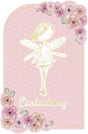 Invitation card fairy 6 pcs. Set