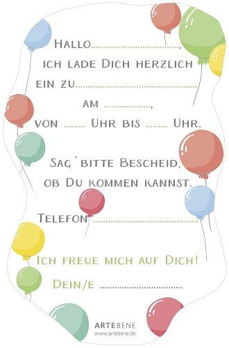 Invitation card balloons 6 pcs. Set