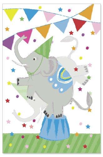 Birthday card kids lenticular elephant