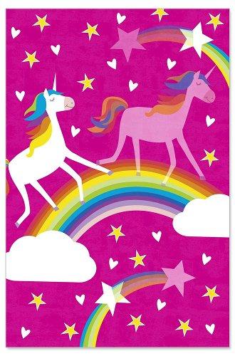 Birthday card kids lenticular unicorn