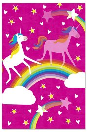 Birthday card kids lenticular unicorn