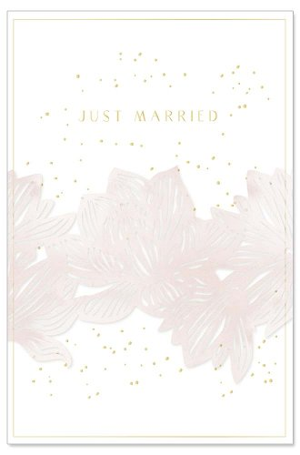 Wedding card banderole Just Married