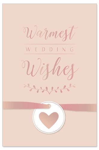 Wedding card ribbon