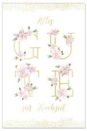 Wedding card flowers