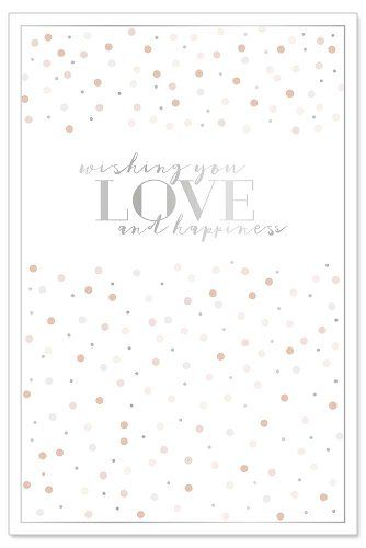 Hochzeitskarte Konfetti Spruch Wishing you love and happiness