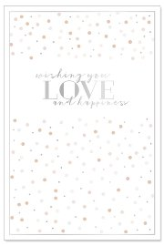 Wedding card confetti