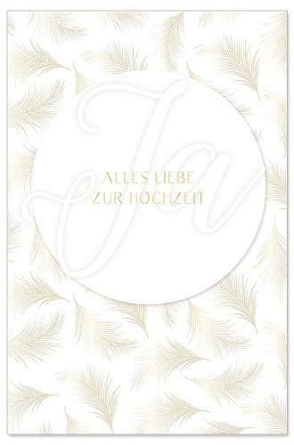 Hochzeitskarte Ja Spruch Alles Liebe Zur Hochzeit