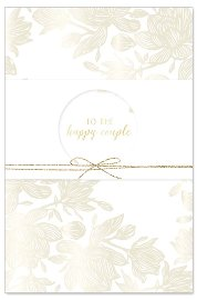 Hochzeitskarte Banderole Spruch To the happy couple