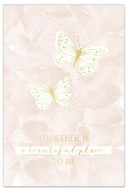 Hochzeitskarte Schmetterlinge Spruch Together is a beautiful place to be