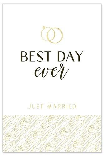 Hochzeitskarte Best Day Ever Spruch Just Married