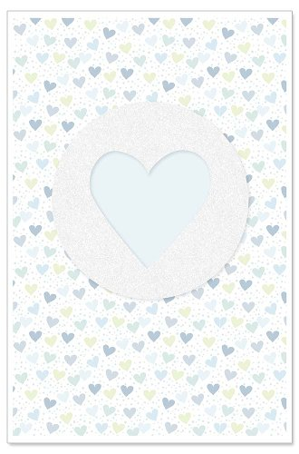 Karte Baby Herz Bleu