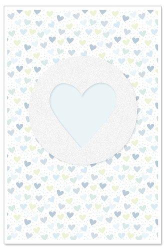 Card baby heart blue