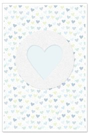Card baby heart blue