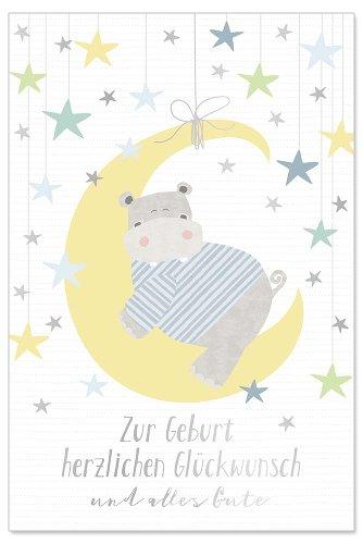 Karte Baby Mond Bleu