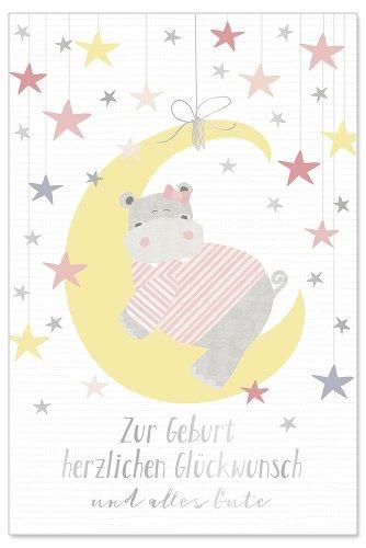 Karte Baby Mond Rosé