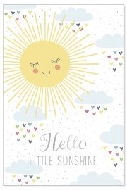 Karte Baby Sonne Spruch Hello little sunshine
