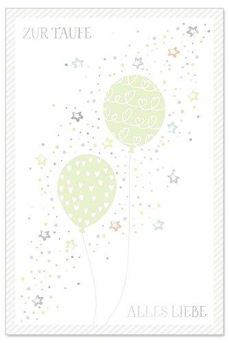 Card christening balloon
