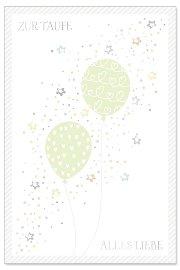 Karte Taufe Luftballons