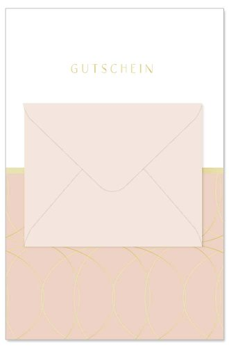 Card voucher envelope rose