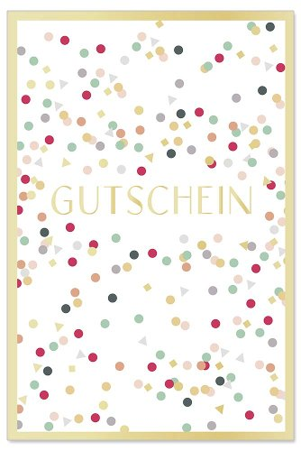 Card voucher confetti