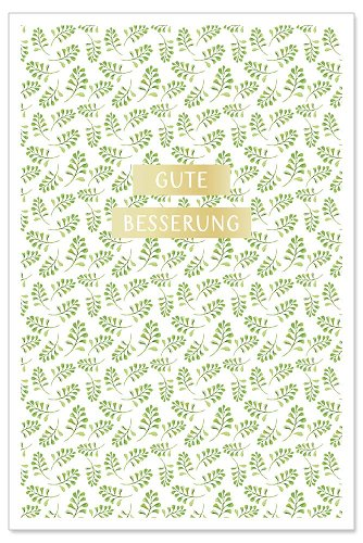 Card Gute Besserung leafes