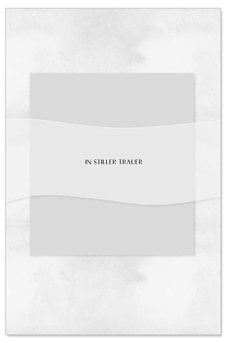 Trauerkarte Spruch In stiller Trauer 3D