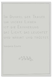 Mourning card Erinnerung