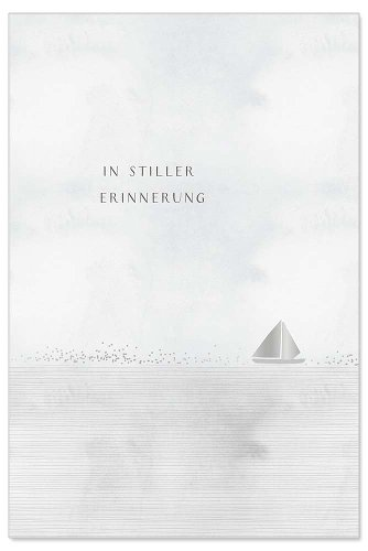 Mourning card sailboat In stiller Erinnerung