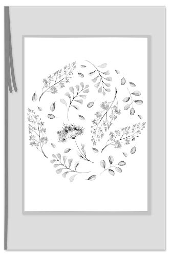 Mourning card grasses bow 3D