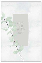 Trauerkarte Zweig Spruch In stiller Trauer und tiefem Mitgefühl