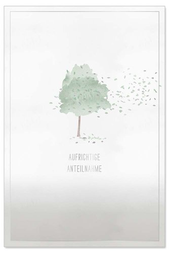 Mourning card tree