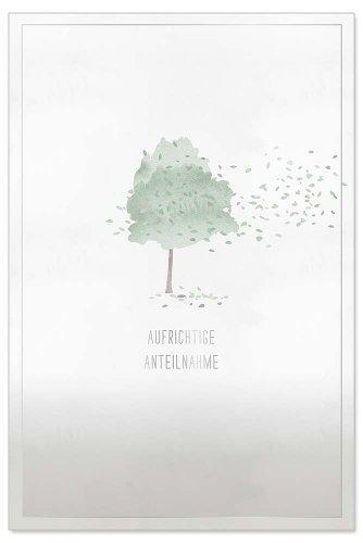 Trauerkarte Baum Spruch Aufrichtige Anteilnahme