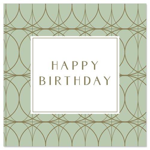 Minikarte Kringel Spruch Happy Birthday