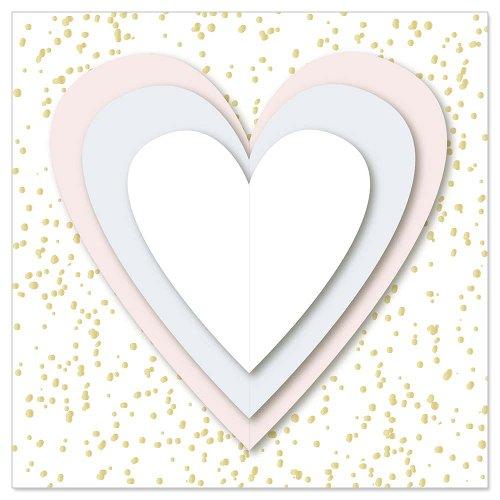 Mini card hearts 3D