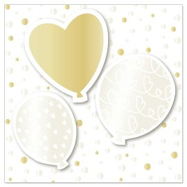 Mini card balloons heart 3D