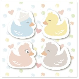 Mini card ducklings 3D