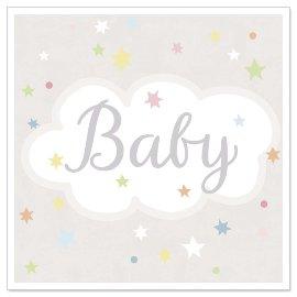 Minikarte Baby Sterne