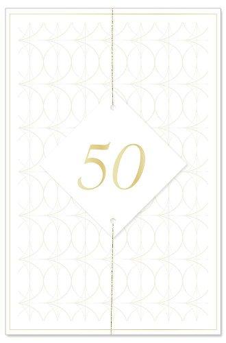 Hochzeitskarte 50 Jahre 3D