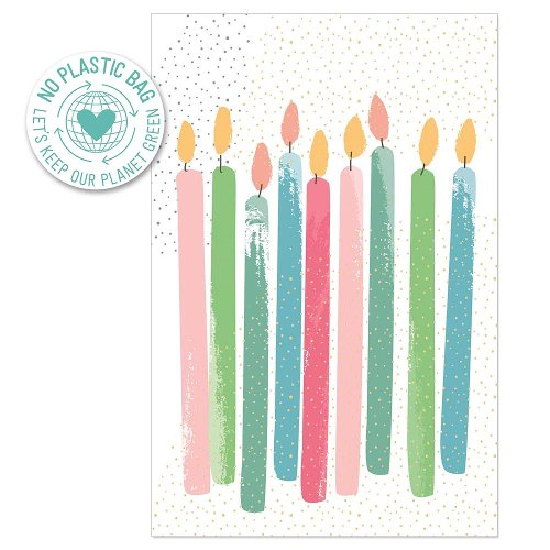 Birthday card candles