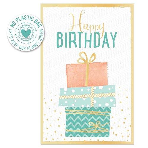 Geburtstagskarte Päckchen Spruch Happy Birthday