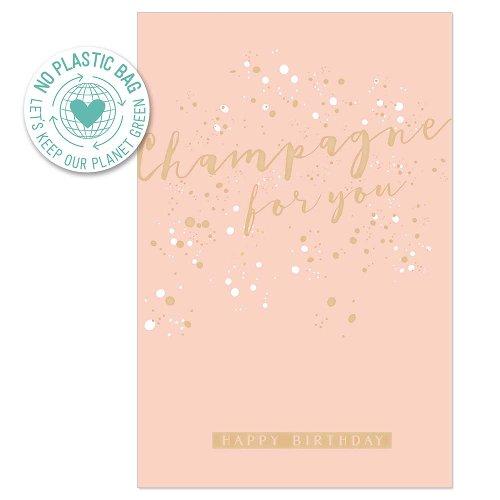 Birthday card champagne