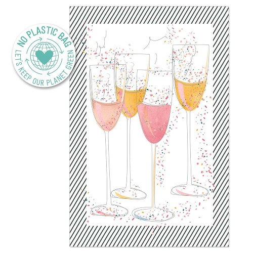 Greeting card champagne glasses