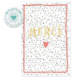 Grußkarte Spruch Merci