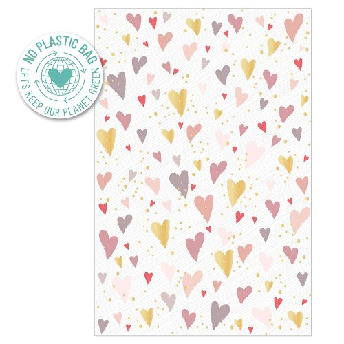 Greeting card hearts dots