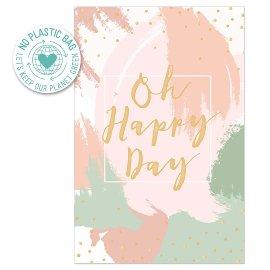 Glückwunschkarte Spruch Oh happy day