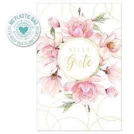 Geburtstagskarte Magnolien Spruch Alles Gute