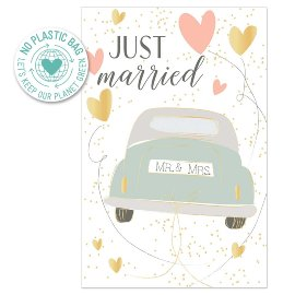 Greeting card wedding just married