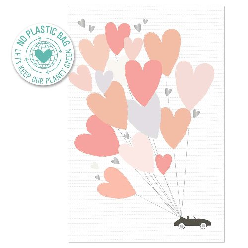 Greeting card wedding car