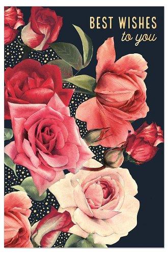 Glückwunschkarte Rosenstrauß Spruch Best Wishes For You