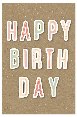 Birthday card happy birthday 3D